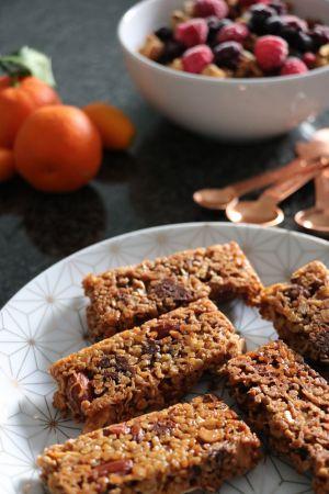 Recette Barres de céréales aux amandes et chocolat