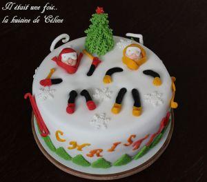 Recette Gâteau sous la neige { Gâteau pâte à sucre }