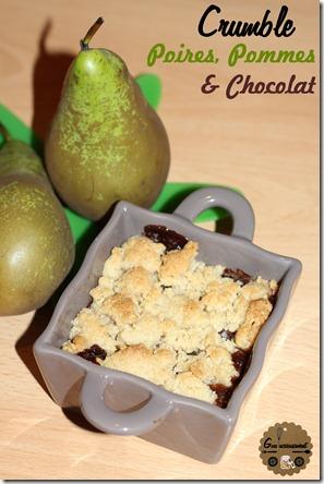 Recette Crumble Poires Pommes & Chocolat Noir
