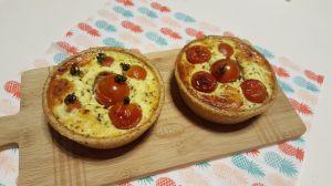 Recette Quiches chèvre et tomates cerise