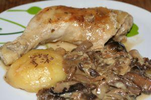 Recette Cuisses de poulet au Munster