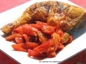 Recette Cuisse de poulet aux poivrons