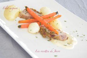 Recette Filet mignon de porc accompagné de ses légumes