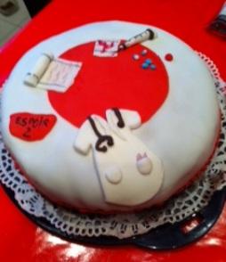 Recette Gâteau infirmière en pâte à sucre (gâteau damier) au thermomix ou sans