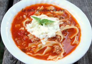 Recette Soupe de lasagne