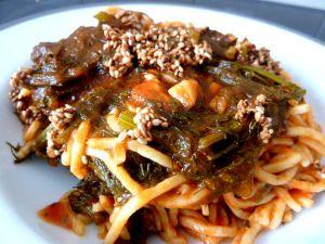 Recette Spaghettis au fenouil