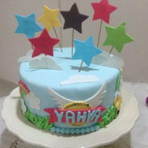 Recette Gateau d'anniversaire en pate à sucre