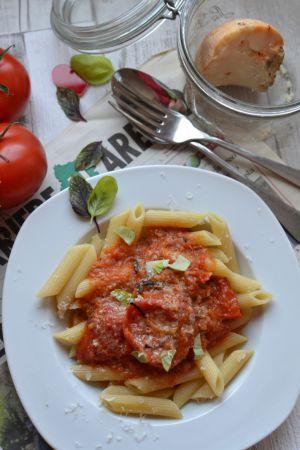 Recette Pâtes aux tomates roties