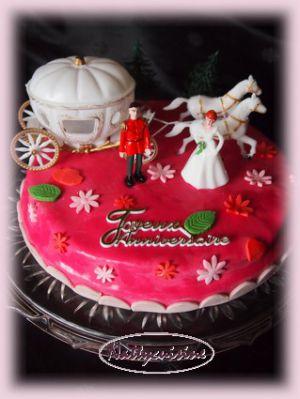 Recette Gateau d'anniversaire cendrillon en Pâte à sucre