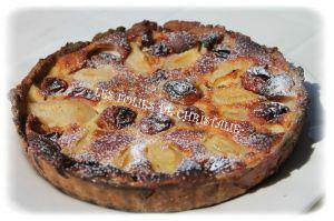 Recette Tarte poires / prunes