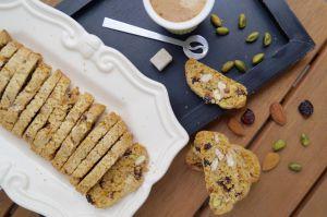 Recette Croquants pistaches, amandes, cranberries et orange