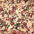 Recette Salade de riz 3 couleurs, betterave et thon