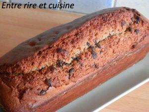 Recette Cake à la farine de châtaigne et pépites de chocolat noir