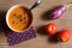 Recette Soupe tomate et aubergines