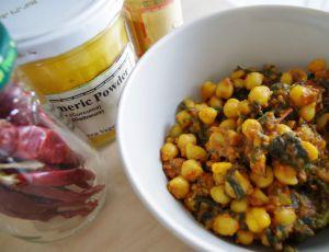 Recette Curry vegan de pois chiche et épinards