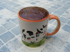 Recette Mug cake a la pâte à tartiner au chocolat