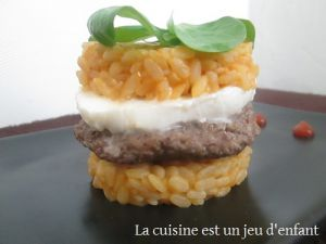 Recette Risotto burger