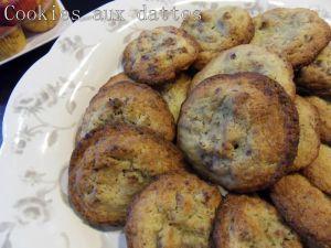 Recette Cookies aux dattes