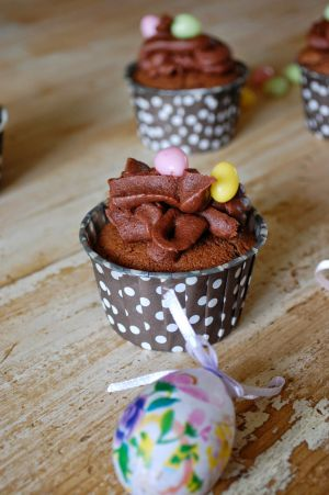 Recette Cupcakes de pâques tout chocolat Chocolat,chocolat