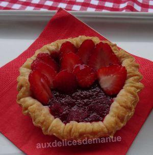 Recette Tartelettes à la compote de fraises et fraises