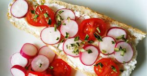 Recette Tartine radis/fromage frais