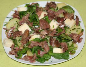 Recette Salade de mâche, pissenlit et cuisse de canard confite
