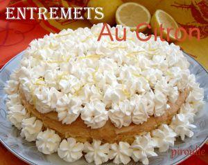 Recette Entremets au citron d'Annaelle
