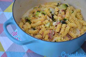 Recette One Pot Pasta au bacon et aux courgettes de Carlita