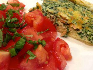Recette Quiche au saumon et épinards