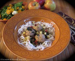 Recette Boulettes de porc aux pommes à l'asiatique +