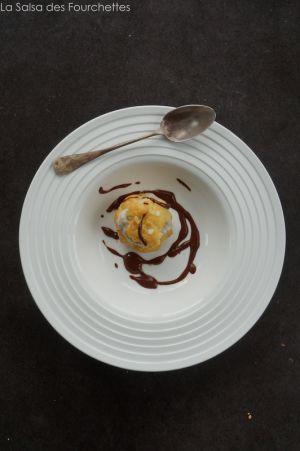Recette Profiteroles à la glace à la vanille