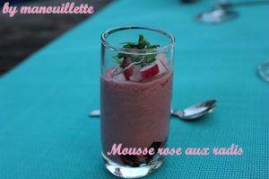 Recette Mousse rose aux radis