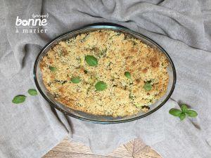Recette Crumble de courgettes au gorgonzola