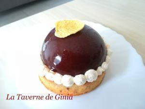 Recette Tartelettes noisettes et son dôme choco-orange, chantilly mascapone-orange