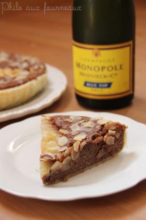 Recette Tarte poire, chocolat & amandes