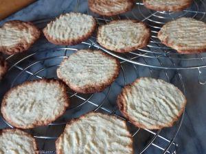 Recette Tuiles plates biscuitées au coco ig bas