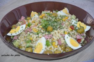 Recette Salade de pâtes coquillette sauce onctueuse