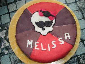 Recette Gâteau Monster High en pâte à sucre