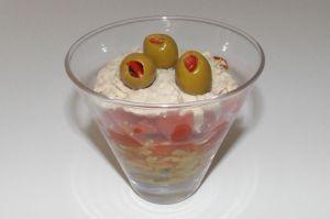 Recette Verrine de tapenade d'avocat, tomates cerise et rillettes de thon
