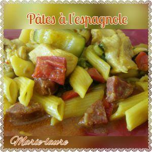 Recette Pâtes à l'Espagnole au cookéo ou pas !