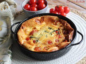 Recette Clafoutis salé aux tomates cerises & ricotta