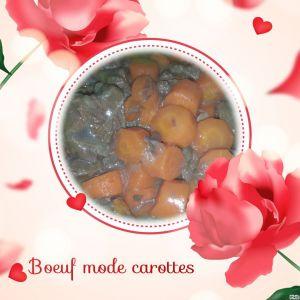 Recette Boeuf mode carottes COOKEO