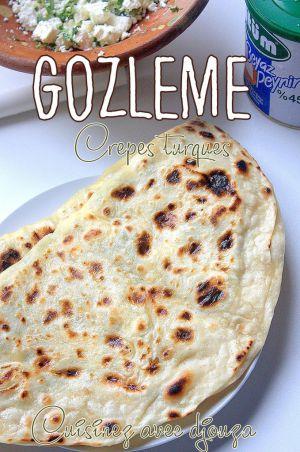 Recette Gozleme turc farci au fromage