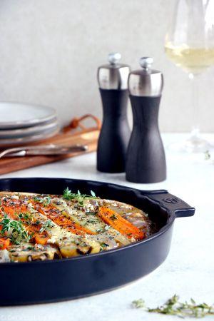 Recette Tarte tatin aux panais, carottes et échalotes