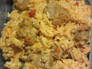 Recette Rougail saucisses  et riz au cookéo