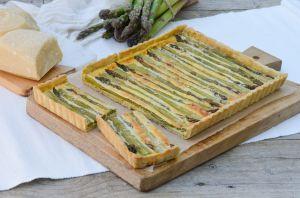 Recette Tarte aux asperges et au parmesan