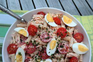 Recette Salade de pâtes au surimi