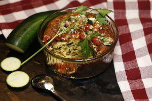 Recette Flan de courgettes sauce vierge