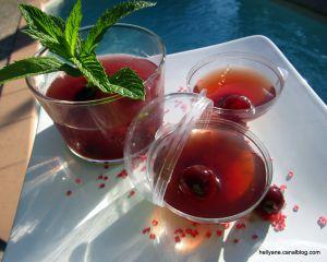 Recette Gelée au jus de cranberry - griottines et sirop de gingembre