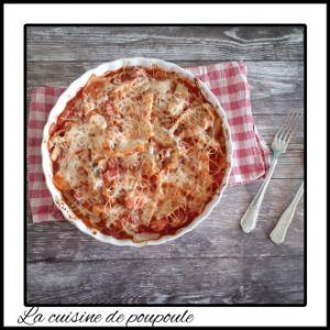 Recette Gratin de cote de blettes sauce tomate, parmesan